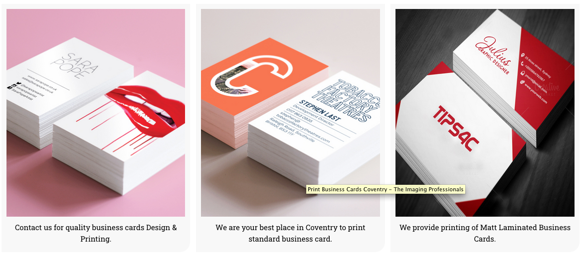business cards coventry